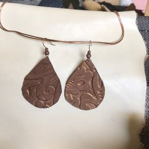 Genuine leather drops